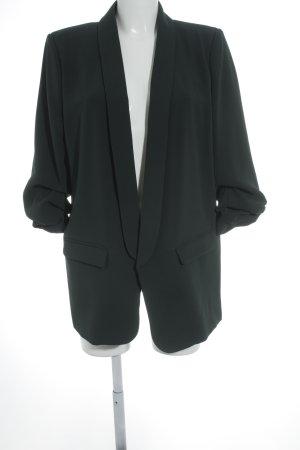 Zara Woman Lange blazer bos Groen zakelijke stijl