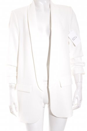 Zara Woman Long-Blazer weiß Business-Look