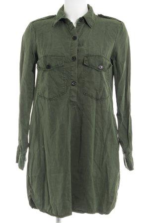 Zara Woman Lange blouse khaki Azteken print
