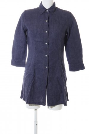 Zara Woman Long-Bluse blau Casual-Look