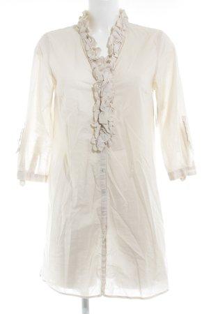 Zara Woman Long-Bluse creme Elegant