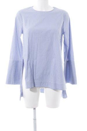 Zara Woman Camicetta lunga azzurro-bianco motivo a righe stile marinaro