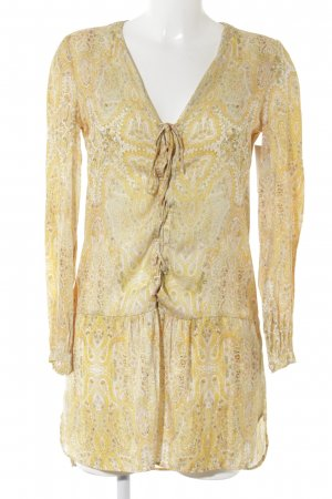 Zara Woman Long-Bluse Paisleymuster Gypsy-Look