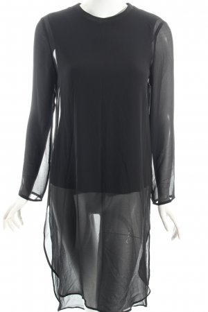 Zara Woman Long-Bluse schwarz Lagen-Look