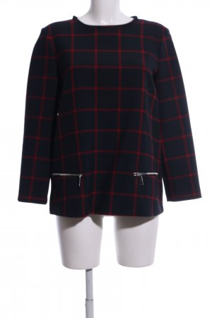 Zara Woman Long Shirt blue-red check pattern business style
