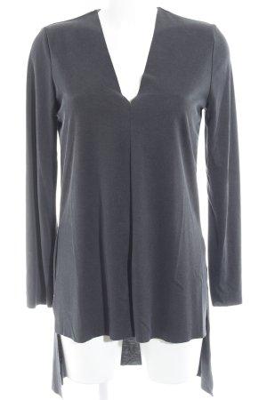 Zara Woman Longshirt graublau Casual-Look