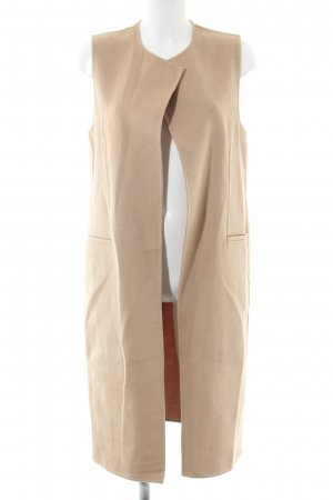 Zara Woman Long Knitted Vest nude casual look