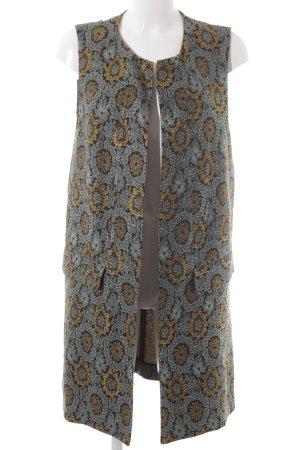 Zara Woman Gilet long tricoté motif de fleur style décontracté