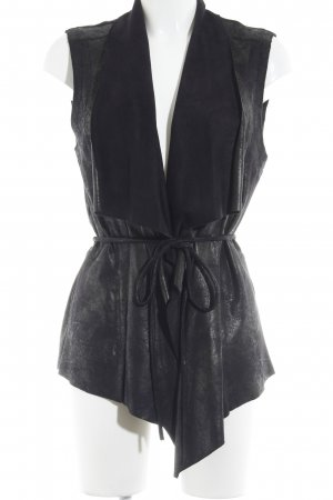 Zara Woman Longstrickweste schwarz Country-Look