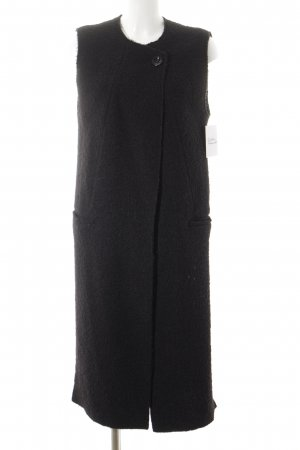 Zara Woman Longstrickweste schwarz klassischer Stil