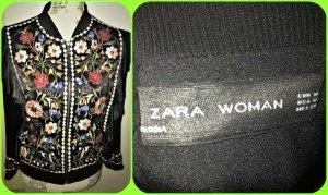 Zara Woman Chaqueta bomber multicolor tejido mezclado