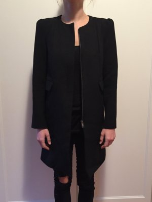 Zara Woman Mantel Schwarz