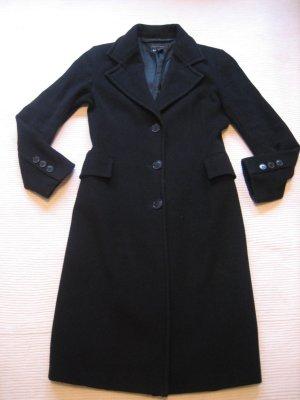 zara woman mantel schwarz klassiker topzustand gr. m 38 wolle
