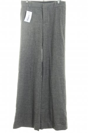 Zara Woman Marlene Trousers dark grey-grey zigzag pattern casual look