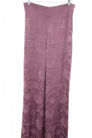 Zara Woman Marlene Trousers pink floral pattern elegant