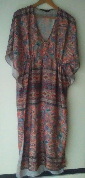 Zara Vestido largo multicolor Sintético