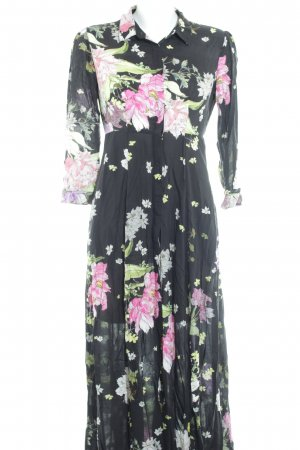 Zara Woman Maxikleid Blumenmuster Boho-Look