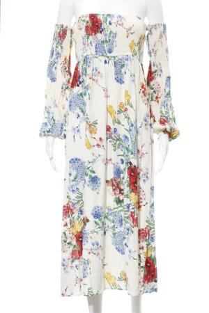 Zara Woman Maxikleid Blumenmuster schlichter Stil