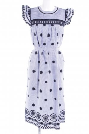 Zara Woman Maxikleid dunkelblau-himmelblau florales Muster Casual-Look