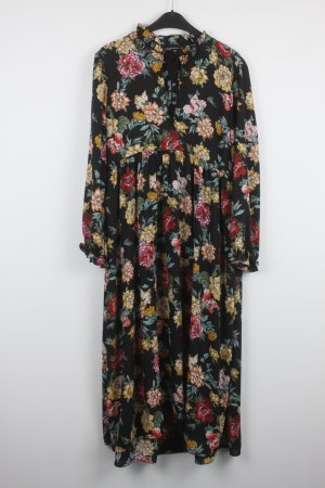Zara Woman Vestido largo negro Poliéster