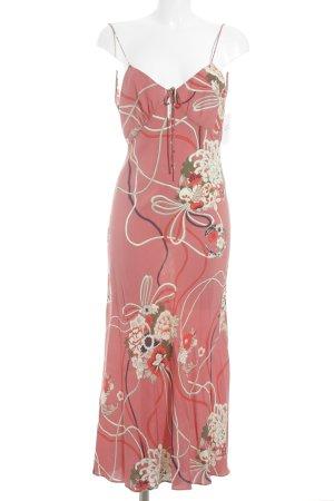 Zara Woman Maxikleid hellrot-creme florales Muster Romantik-Look