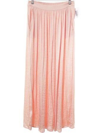 Zara Woman Falda larga rosa reluciente