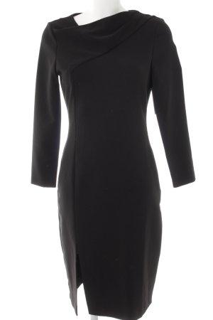 Zara Woman Midikleid schwarz Elegant