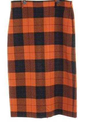 b2e47811f Zara Woman Falda midi naranja claro-negro estilo «business»