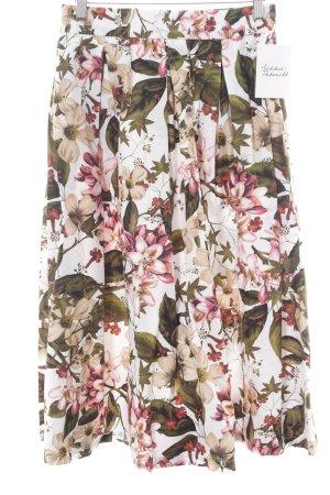 Zara Woman Midirock Blumenmuster Casual-Look