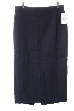 Zara Woman Midirock dunkelblau-schwarz Business-Look