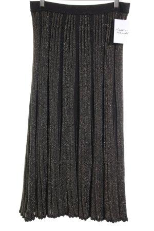 Zara Woman Midirock goldfarben-schwarz Glitzer-Optik