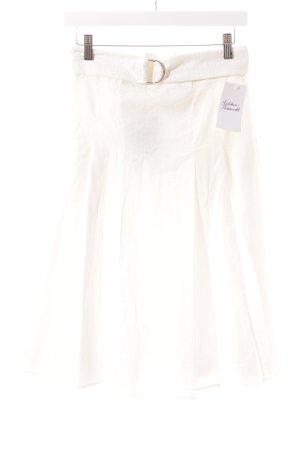 Zara Woman Midirock weiß Romantik-Look