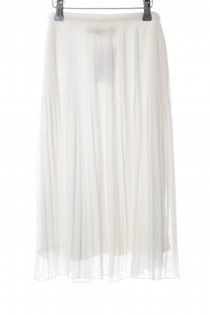 Zara Woman Midirock wollweiß Casual-Look
