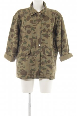 Zara Woman Military Jacket khaki-brown camouflage pattern casual look