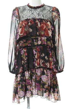 Zara Woman Minikleid Blumenmuster Casual-Look