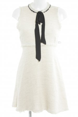Zara Woman Minikleid creme-schwarz Casual-Look