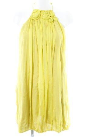 Zara Woman Minikleid limettengelb Elegant