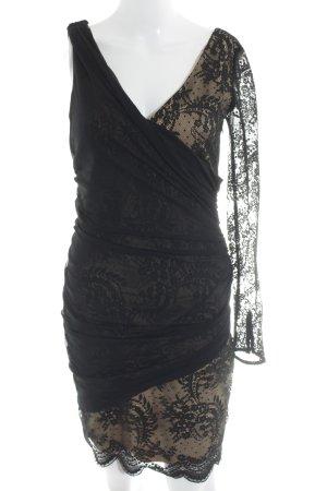 Zara Woman Minikleid schwarz-beige extravaganter Stil