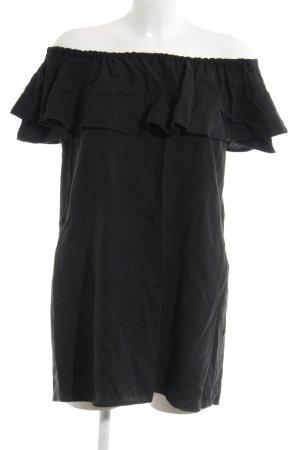 Zara Woman Minikleid schwarz Bleached-Optik
