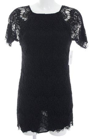 Zara Woman Minikleid schwarz florales Muster Beach-Look