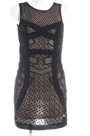 Zara Woman Minikleid schwarz-nude klassischer Stil