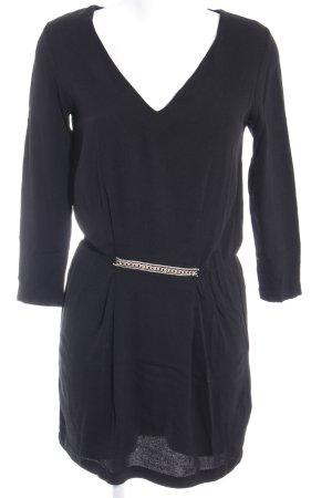 Zara Woman Minikleid schwarz-silberfarben Party-Look