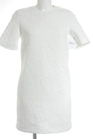 Zara Woman Minikleid weiß Zopfmuster Elegant
