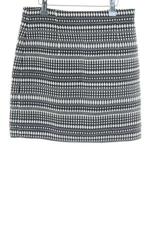 Zara Woman Minirock schwarz-weiß abstraktes Muster Casual-Look