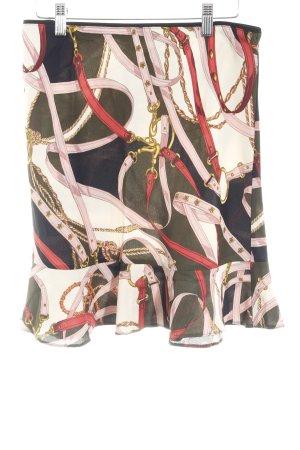 Zara Woman Minirock abstrakter Druck klassischer Stil