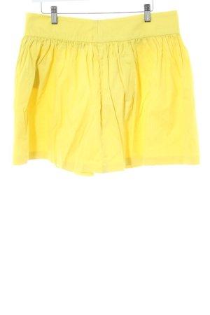 Zara Woman Minirock blassgelb Casual-Look