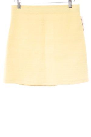 Zara Woman Minirock blassgelb Elegant