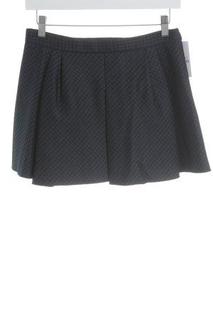 Zara Woman Minirock schwarz-dunkelblau Karomuster Brit-Look
