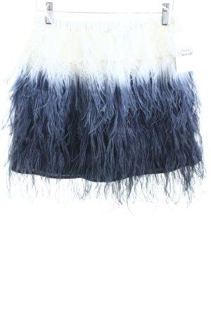Zara Woman Minirock weiß-dunkelblau Farbverlauf extravaganter Stil