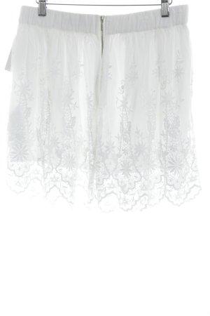 Zara Woman Minirock weiß klassischer Stil